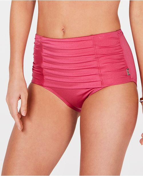 8056d30eb23a2 Calvin Klein Pleated High-Waist Bikini Bottoms & Reviews - Swimwear ...