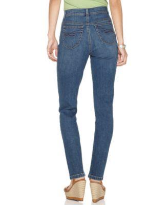 Womens Petite Tummy Control Slim Leg Denim Jeans Style /& Co
