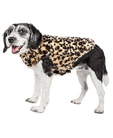 Pet Life Luxe 'Poocheetah' Spotted Cheetah Patterned Faux Fur Dog Coat Jacket