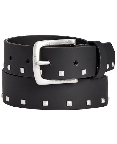 INC International Concepts I.N.C. Men's Small Studded Belt, Created for Macy's