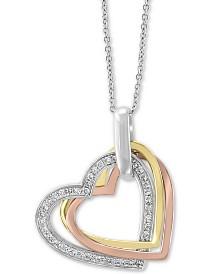 """EFFY® Diamond Heart 18"""" Pendant (1/5 ct. t.w.) in 14k Gold, 14k White Gold and 14k Rose Gold"""