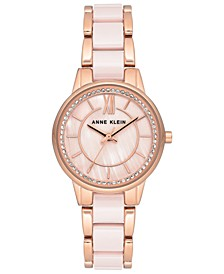 Women's Light Pink Ceramic & Rose Gold-Tone Bracelet Watch 32mm