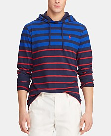 Polo Ralph Lauren Men's Big & Tall Striped  Hooded Long-Sleeve T-Shirt