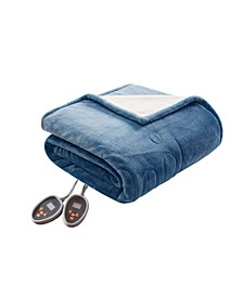Electric Plush to Berber Reversible Twin Blanket