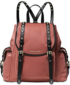 MICHAEL Michael Kors Leila Medium Flap Nylon Backpack