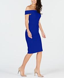 Thalia Sodi Off-The-Shoulder Bodycon Dress, Created for Macy's