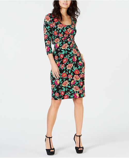 Thalia Sodi Printed Sheath Dress, Created for Macy's