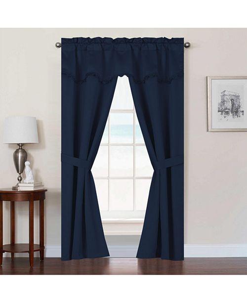 United Curtain Co Inc Burlington 52 Quot X 84 Quot Five Piece
