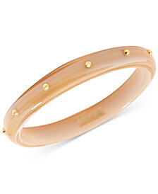 Zenzii Gold-Tone Resin Bangle Bracelet