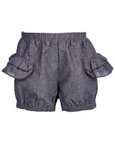 627888df48 First Impressions Baby Girls Cotton Chambray Romper Shorts