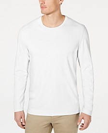 Men's Supima® Blend Crewneck Long-Sleeve T-Shirt, Created for Macy's