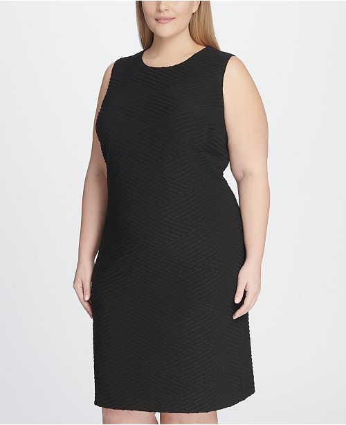 79ffe2f1 Tommy Hilfiger Plus Size Tidal Knit Sheath Dress & Reviews - Dresses ...