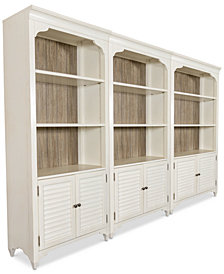 York Two-Tone Home Office Bookcase, Set of 3