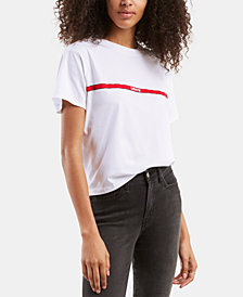 Levi's® Cotton Cropped Graphic-Print T-Shirt