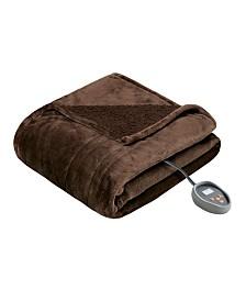 Beautyrest Microlight Berber Twin Heated Blanket