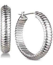 Lauren Ralph Lauren Omega Chain Hoop Earrings