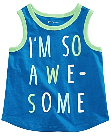 First Impressions Baby Boys So Awesome Graphic Tank Top, Created for Macy's