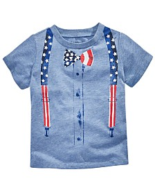 First Impressions Baby Boys Patriotic Graphic T-Shirt, Created for Macy's