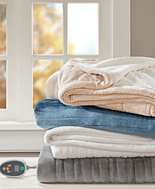 True North By Sleep Philosophy Ultra Soft Reversible Berber/Plush Heated Blanket with Bonus Automatic Timer Collection