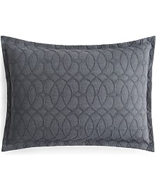 Hotel Collection Interlock Cotton Standard Sham, Created for Macy's