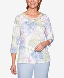 Alfred Dunner Southampton Lace-Trim Top