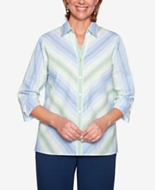 Alfred Dunner Cote D'Azur Striped Shirt