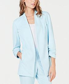 Alfani Ruched-Sleeve Blazer, Created for Macy's