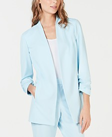 Alfani Ruched-Sleeve Blazer, Created for Macy's