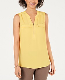 Zip-Front Utility Top, Created for Macy's