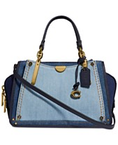 28bfe1f21bea6 COACH Denim Colorblock Dreamer 21 Mini Satchel