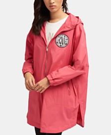 DKNY Long Hooded Logo Jacket