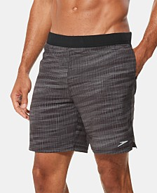 "Speedo Men's Active Flex Stretch 7-1/2"" Hybrid Tech Swim Shorts"