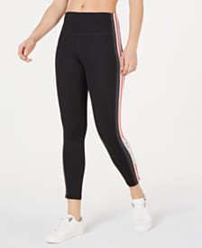 Calvin Klein Performance Varsity-Stripe High-Waist Leggings