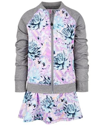 Little Girls Floral-Print Zip-Up Jacket, Created for Macy's