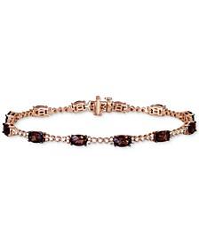 Chocolate Quartz (4-1/5 ct. t.w.) & Vanilla Diamond (3/8 ct. t.w.) Bracelet in 14k Rose Gold