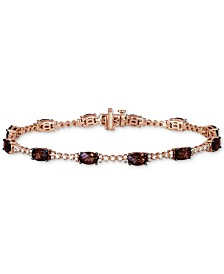 Le Vian® Chocolate Quartz (4-1/5 ct. t.w.) & Vanilla Diamond (3/8 ct. t.w.) Bracelet in 14k Rose Gold