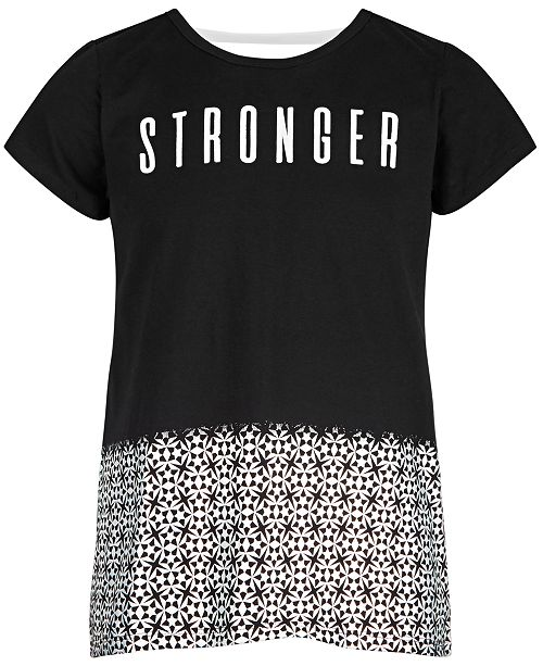Ideology Big Girls Stronger Graphic T-Shirt, Created for Macy's