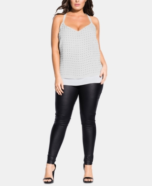 City Chic Tops TRENDY PLUS SIZE EMBELLISHED TOP