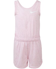 Nike Little Girls Sportswear Speckle-Print Romper