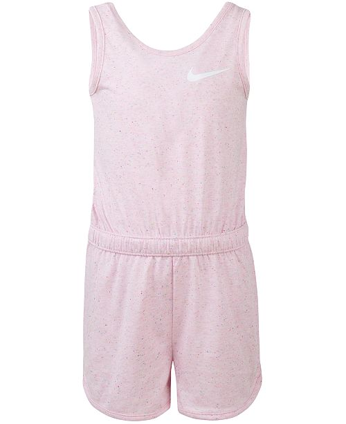 53714705e30a Nike Little Girls Sportswear Speckle-Print Romper   Reviews ...