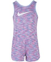 78a775fb88a3 Nike Littler Girls Heathered Sport Essentials Romper