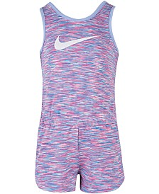 Nike Littler Girls Heathered Sport Essentials Romper