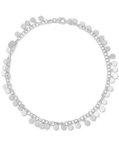 Giani Bernini Shaky Disc Ankle Bracelet in Sterling Silver, Created for Macy's