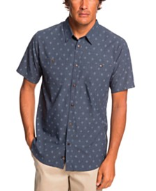 Quiksilver Waterman Men's Wake Manoa Rain Short Sleeve Shirt