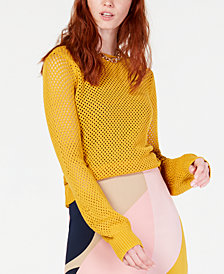 Bar III Perforated Sweater, Created for Macy's