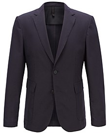 BOSS Men's Slim Fit Micro-Patterned Jacket