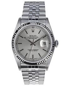 Pre-Owned Rolex Men's Swiss Automatic Datejust Jubilee 18K White Gold & Stainless Steel Bracelet Watch, 36mm