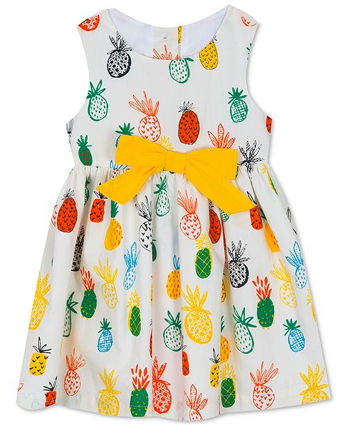 Rare Editions Baby Girls Printed Cotton Dress