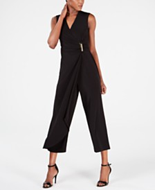 Calvin Klein Draped Wrap Jumpsuit
