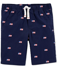 Carter's Toddler Boys Red, White & Blue Pull-On Cotton Shorts